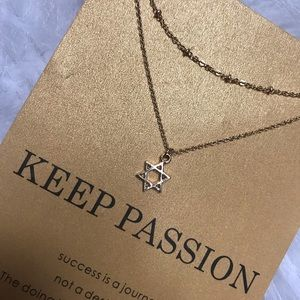 Jewelry - JUST IN ✯ KEEP PASSION NECKLACE